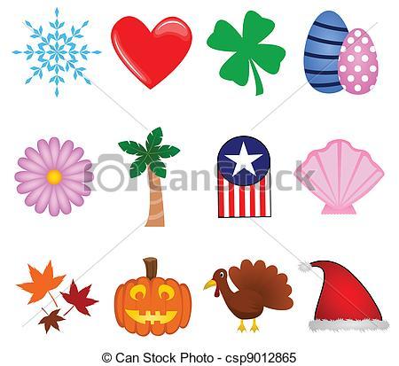 Holiday Icons - csp9012865