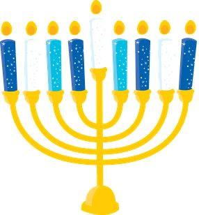 HOLIDAY MENORAH CANDLES CLIP ART