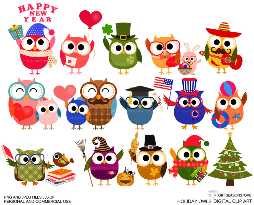 Holiday Owl Clipart-Holiday owl clipart-16