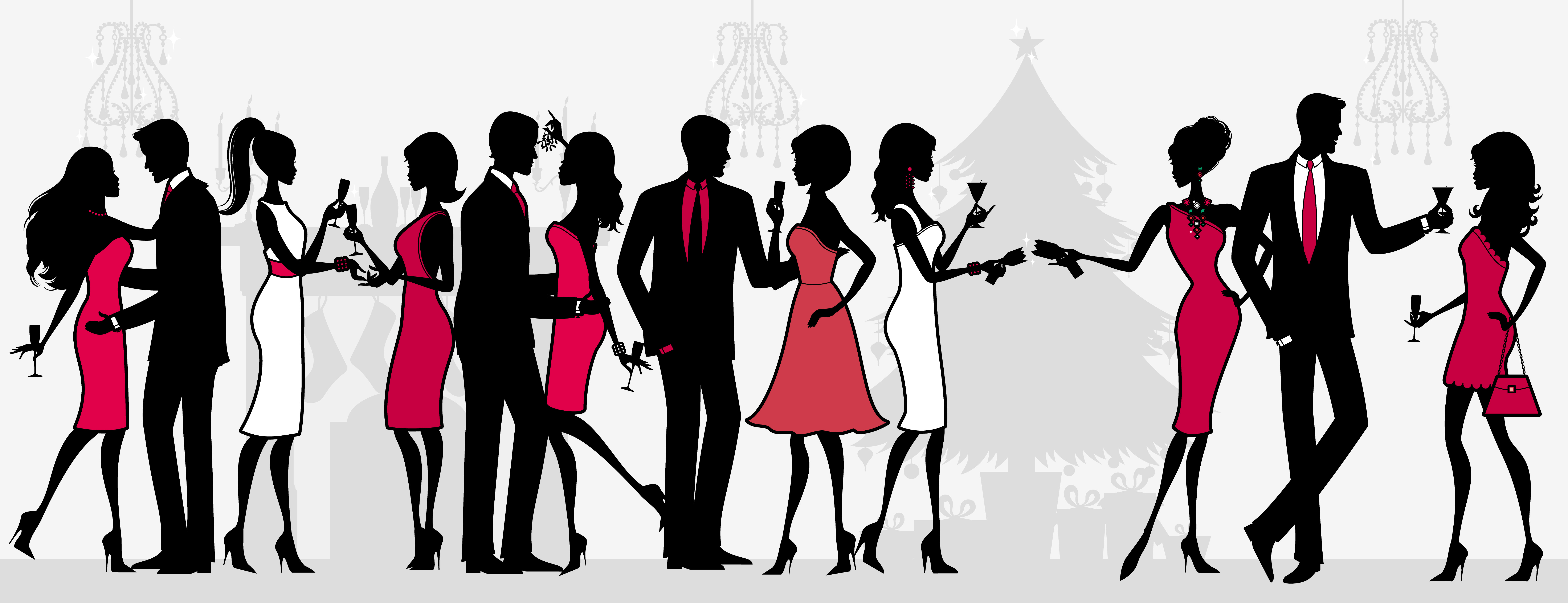 Holiday Party Time Clipart .. - Holiday Party Clip Art