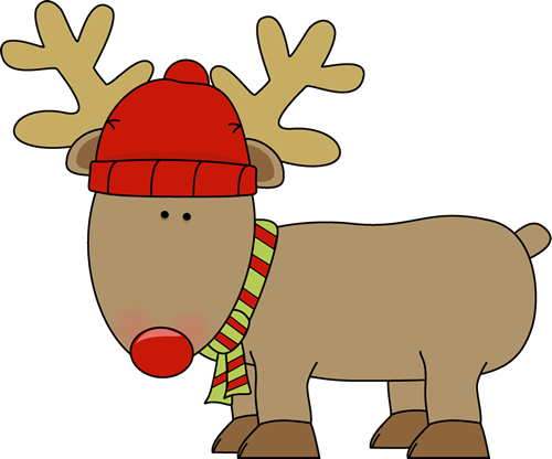 Holiday Reindeer Clip Art Reindeer Weari-Holiday Reindeer Clip Art Reindeer Wearing A Red Winter Hat And A-8