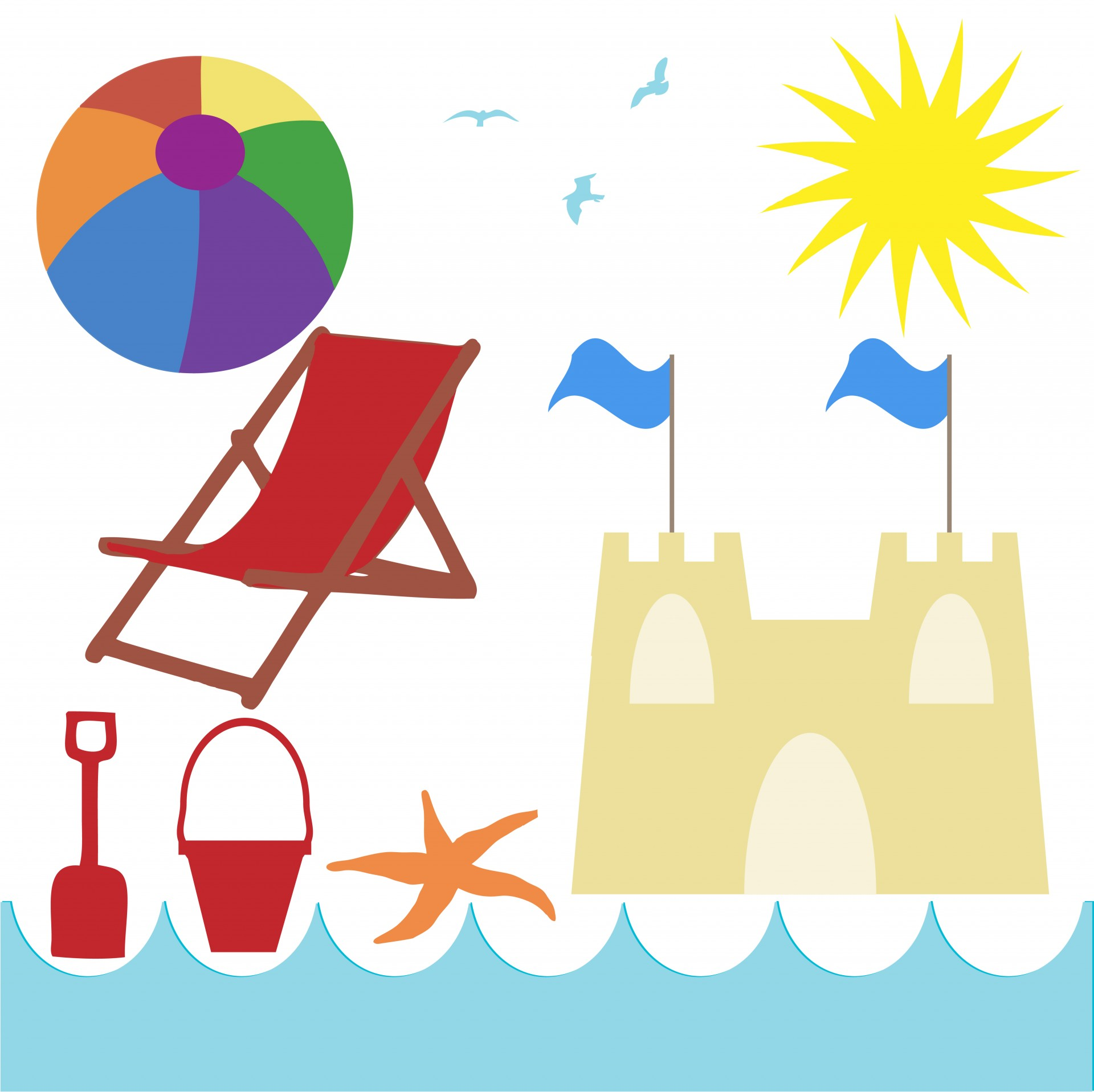 Seaside Beach Holiday Clipart