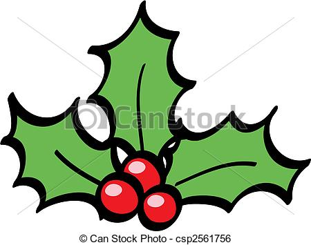 Holly Berries cartoon isolate - Holly Berry Clip Art
