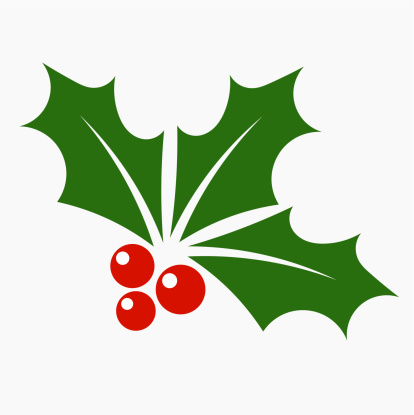 Holly berry icon vector art .