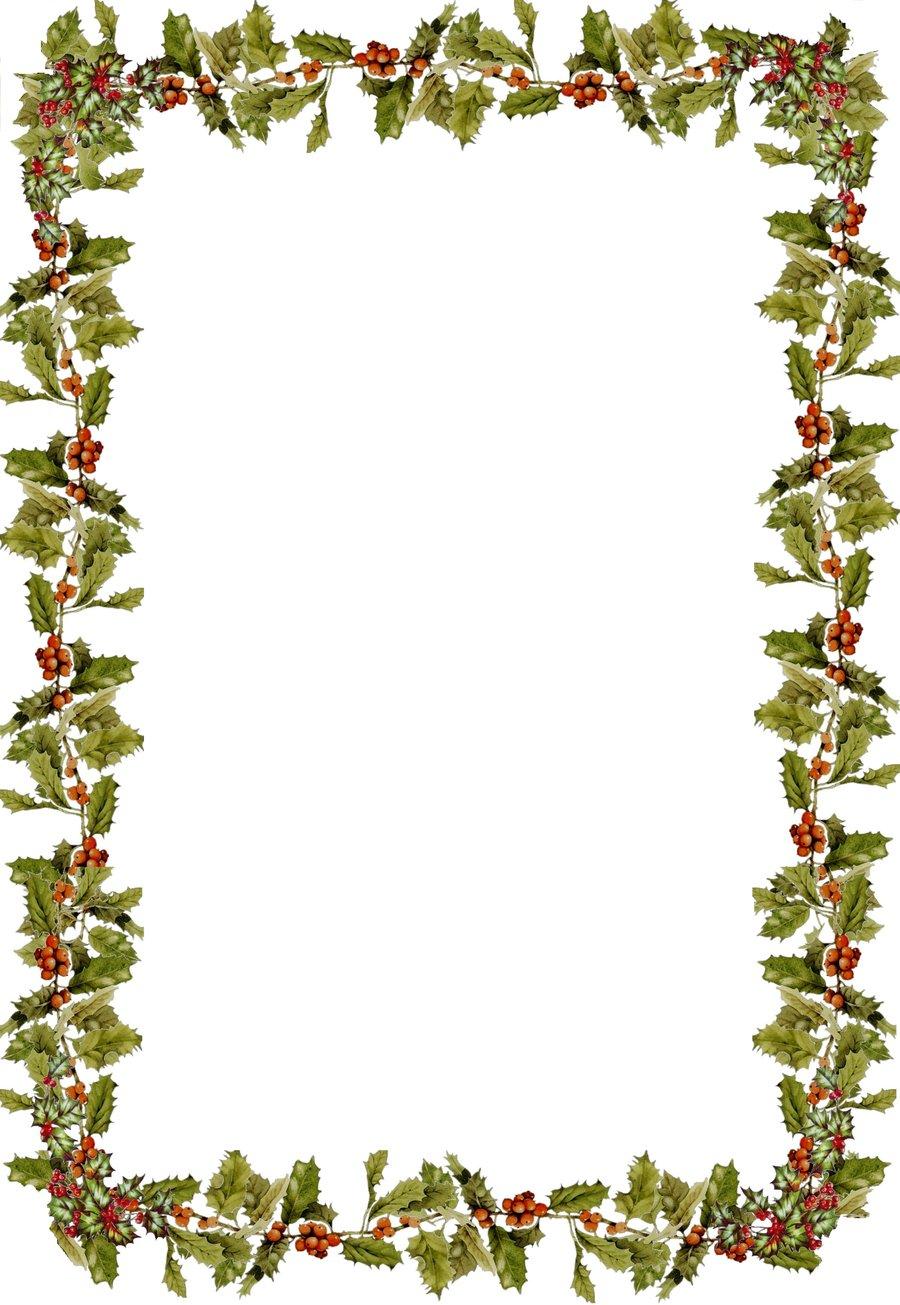 Holly Border Clip Art Clipart Best