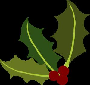 Holly Leaf Corner Clip Art
