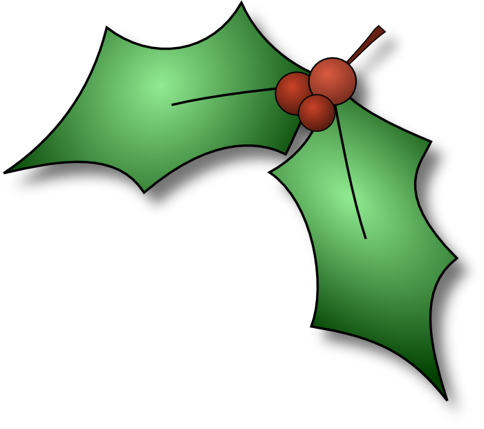 Holly Leaves. Holly Leaves. free clipart christmas