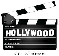 ... Hollywood Clapperboard - A typical movie clapperboard with... Hollywood Clapperboard Clip Artby ...