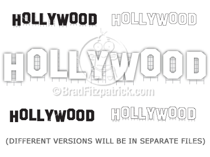 Cartoon Hollywood Sign Clipart Graphics-Cartoon Hollywood Sign Clipart Graphics-2