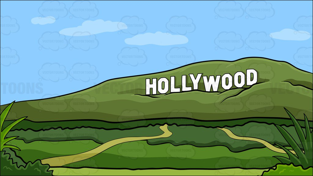 Hollywood sign during the day background