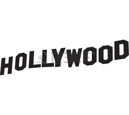 Hollywood Sign Lettering In Vector Black-Hollywood sign lettering in vector black Vector-12