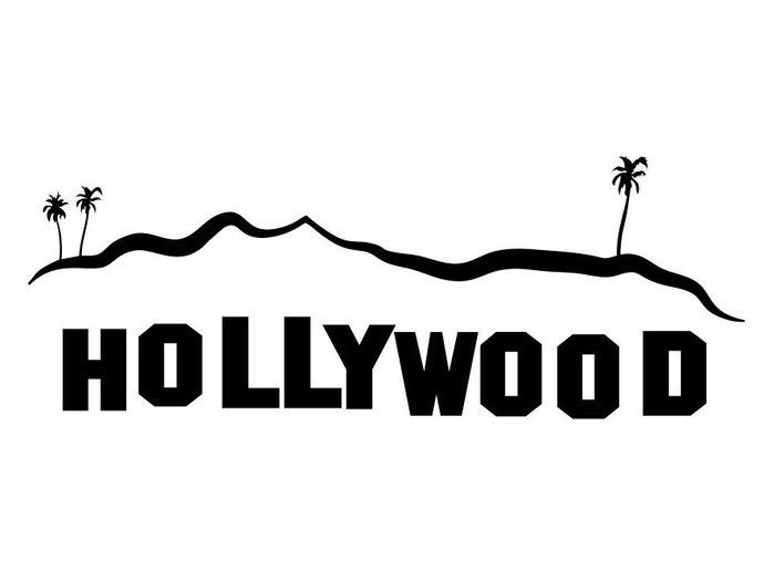 Hollywood Sign Los Angeles graphics design SVG DXF EPS Png Cdr Ai Pdf  Vector Art