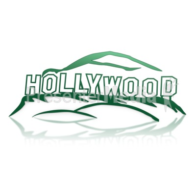 Hollywood Sign PowerPoint Clip Art