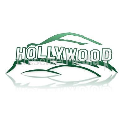 Hollywood Sign PowerPoint Clip Art