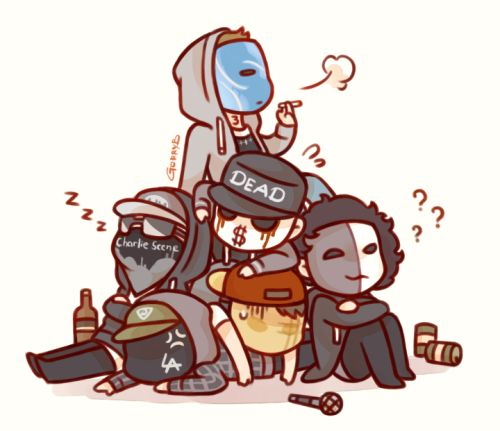 chibi Hollywood Undead-chibi Hollywood Undead-3