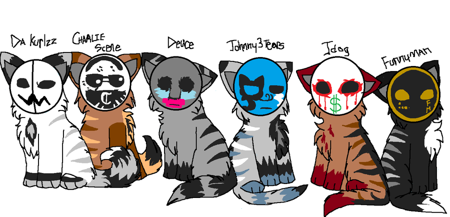 Hollywood Undead Cats by CascadingSerenity ClipartLook.com