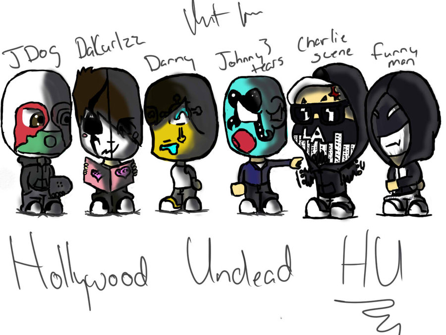 Hollywood Undead chibi by ninthkaos Clip-Hollywood Undead chibi by ninthkaos ClipartLook.com -4