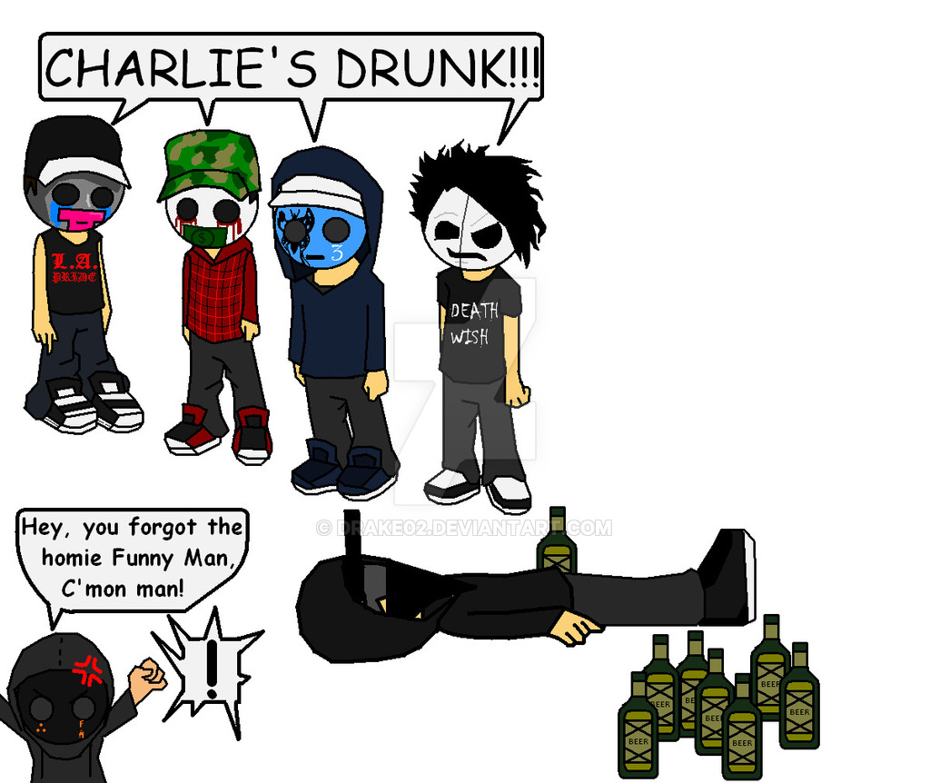 Hollywood Undead :iconclearguitar: ClearGuitar 953 160 Charlie Sceneu0027s  Drunk :WIP: by Drake02