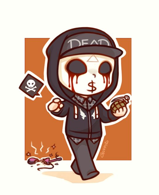 Hollywood Undead❤️J-Dog chibi-Hollywood Undead❤️J-Dog chibi-1