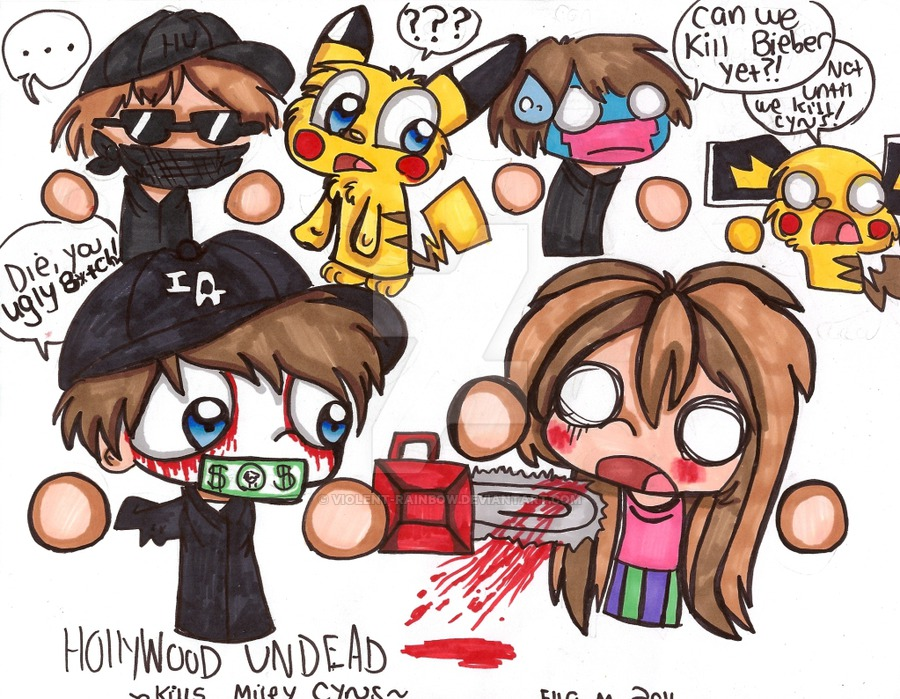 Hollywood Undead Kills Miley Cyrus by Violent-Rainbow ClipartLook.com