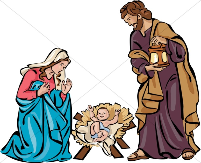 Holy Family Nativity in Color
