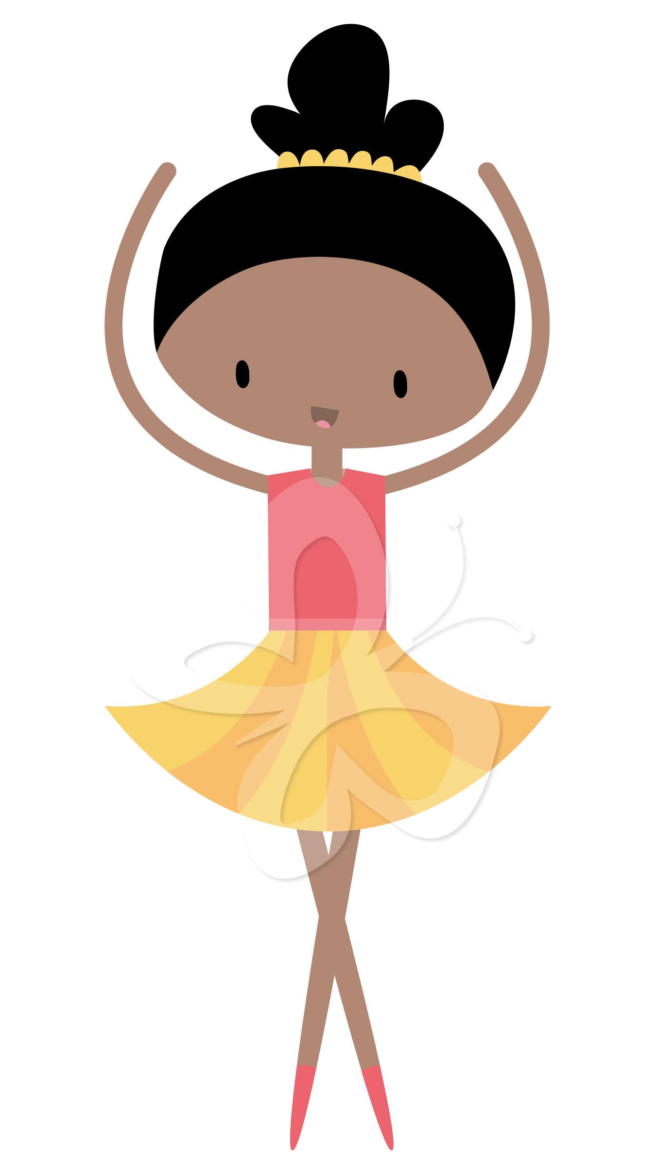 Home All Clip Art Cute Little Ballerina Clipart Set