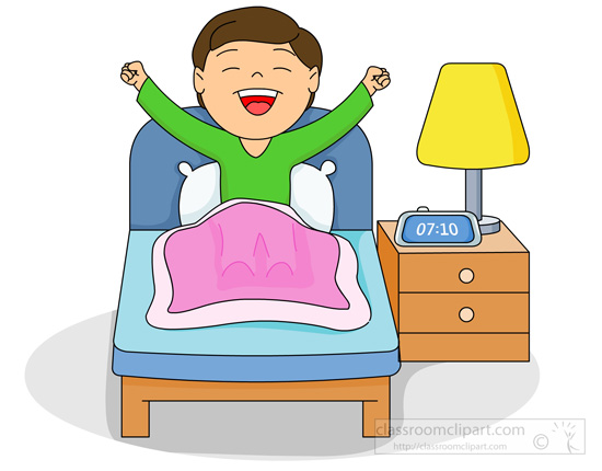 Home Boy In Bed Waking Up In The Morning-Home Boy In Bed Waking Up In The Morning Classroom Clipart-6