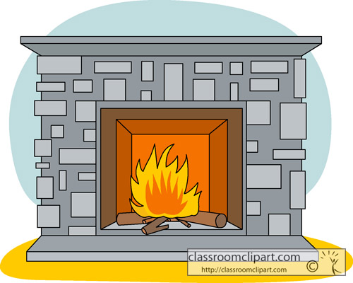 Home Fireplace Classroom Clip - Fireplace Clipart