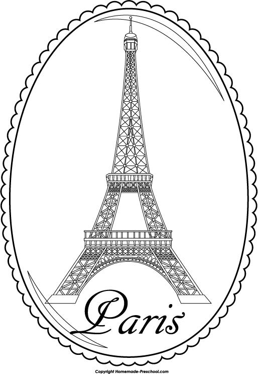 Home Free Clipart Eiffel Tower Clipart Eiffel Tower Paris Circle
