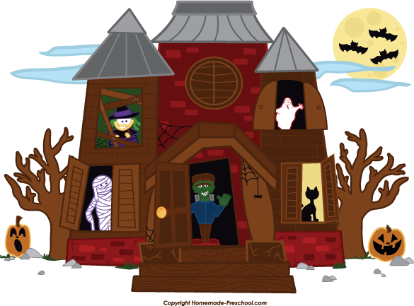 Home Free Clipart Halloween Clipart Haunted House Friends