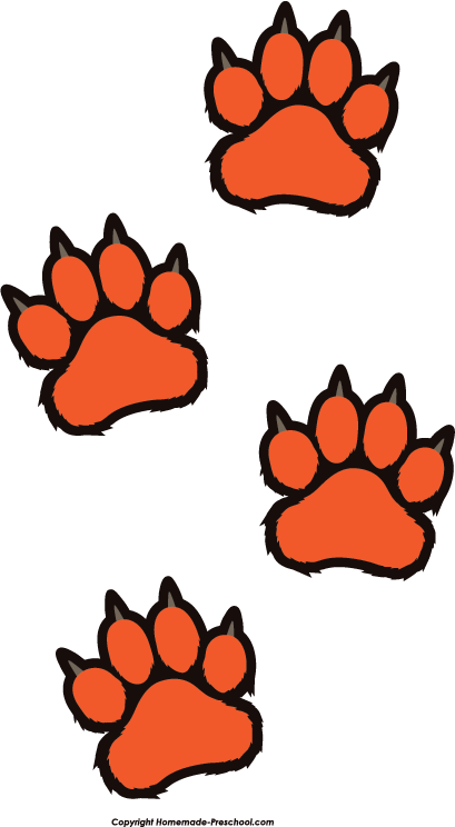 Home Free Clipart Paw Prints Clipart Tiger Paw Prints Prints