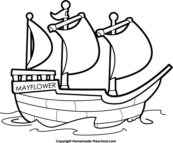 Home Free Clipart Thanksgiving Clipart Mayflower Ship