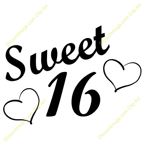 Happy 16th Birthday Clip Art