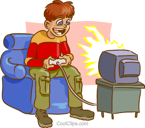video games Royalty Free Vector Clip Art illustration - Playing Video Games  PNG
