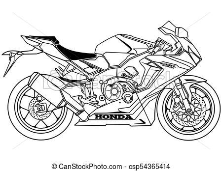 New Honda CBR1000R Blueprint  - Honda Clipart