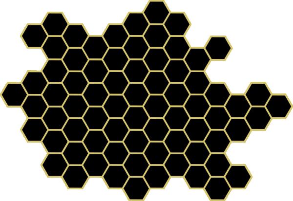 Honey Comb clip art - vector clip art online, royalty free