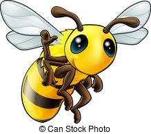 Honeybee Stock Illustrationby Derocz4/44-Honeybee Stock Illustrationby derocz4/445; Happy waving cartoon bee - Illustration of a cute happy.-19
