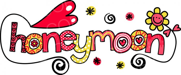 Honeymoon - Wedding Doodle Te - Honeymoon Clipart
