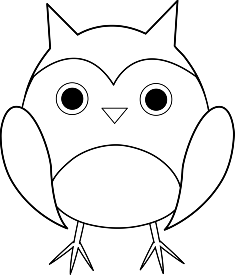 School owl clipart black and