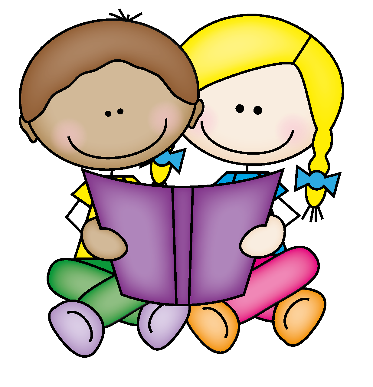 Hope Everyone Enjoyed Our Boo - Kids Reading Clip Art