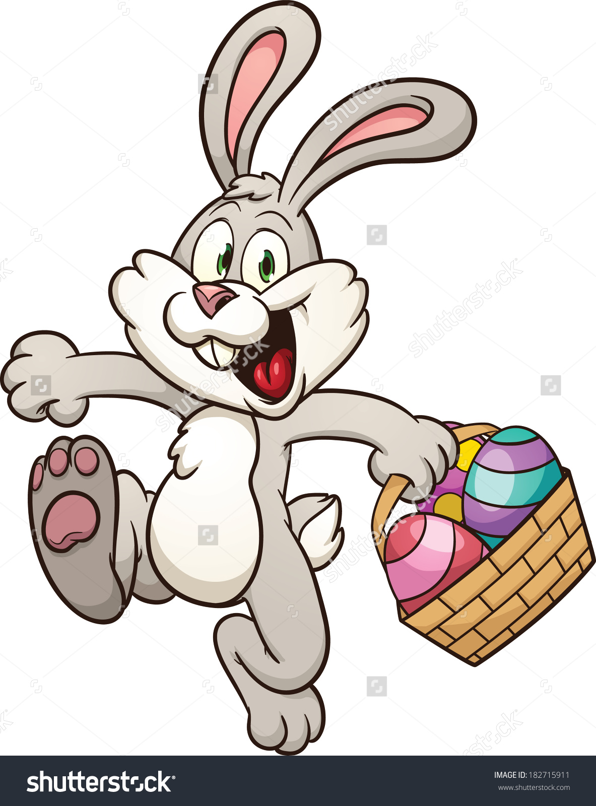 Hopping Easter Bunny Clipart ... Save to a lightbox