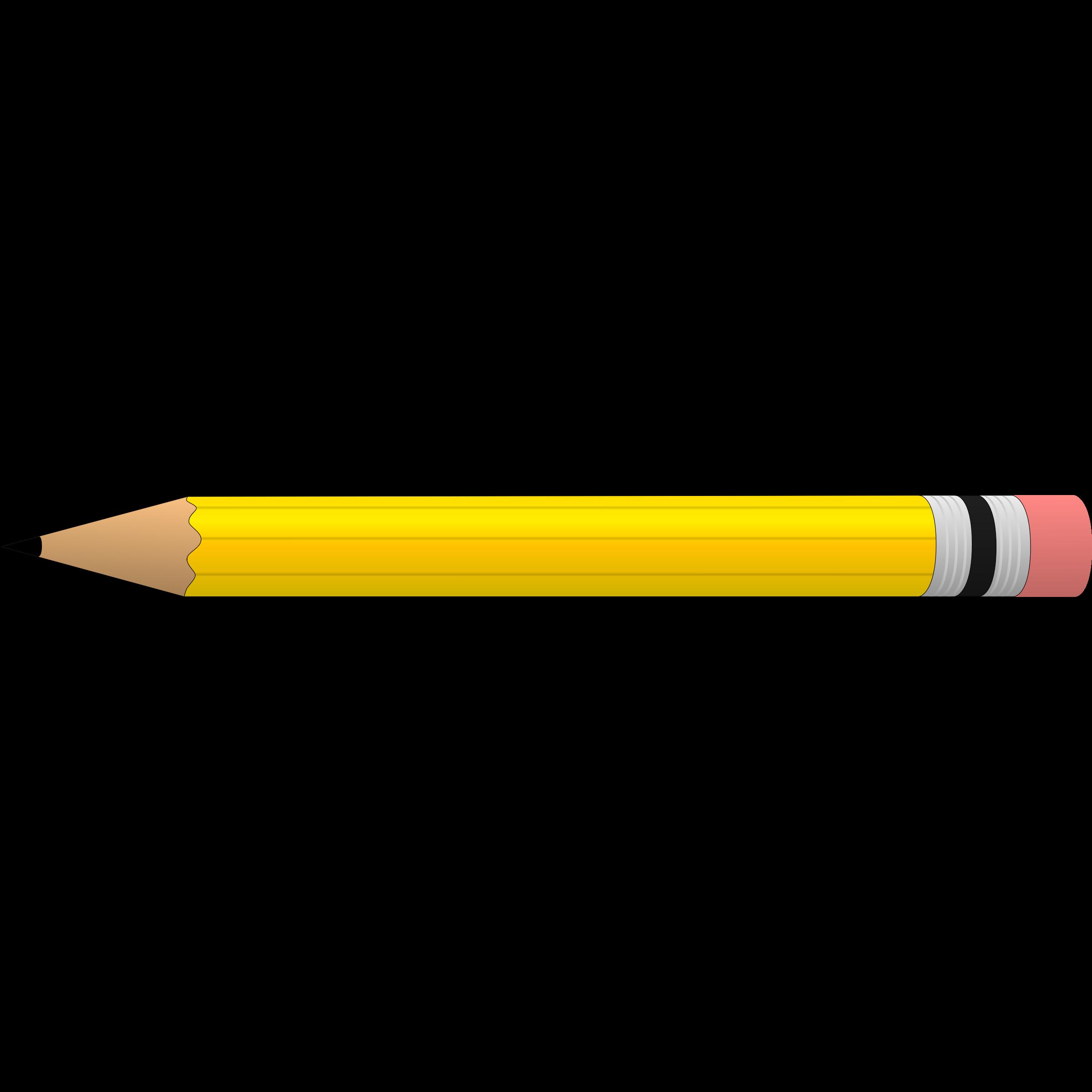 Horizontal Pencil Clipart .