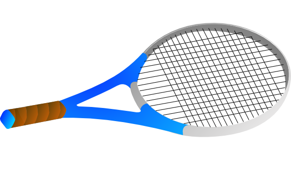 Horizontal Tennis Racquet Clip Art At Clker Com Vector Clip Art