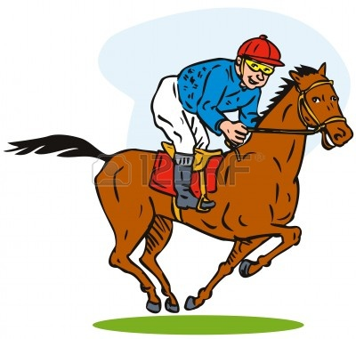 horse racing clipart