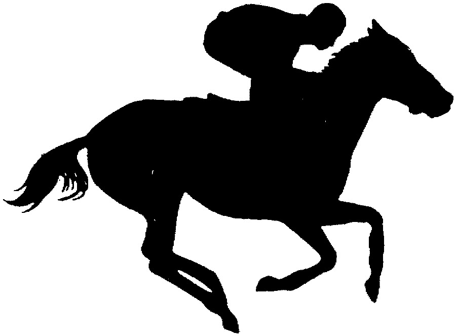 horse racing clipart