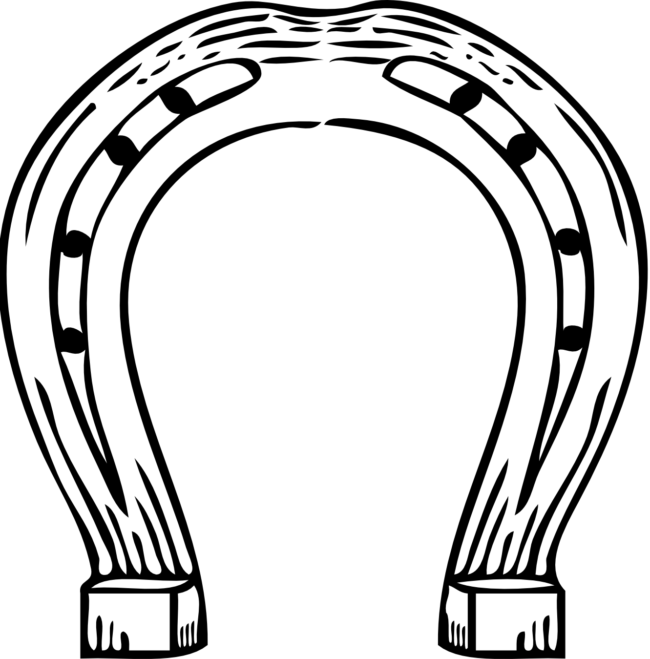 horse shoe clipart black and white