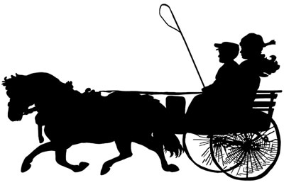 Horse and Buggy Clipart
