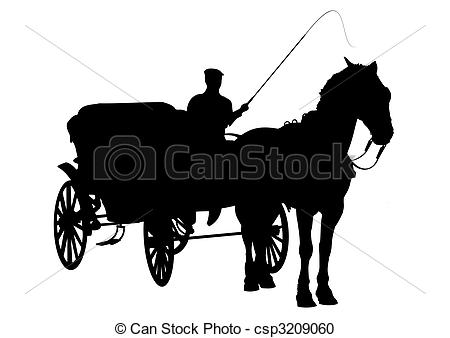 ... Horse and buggy silhouette - Horse and carriage silhouette.
