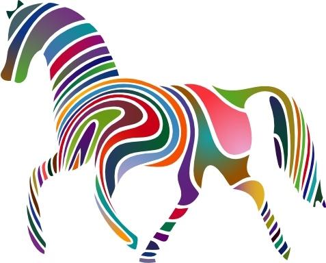 Horse clip art Free vector 551.35KB