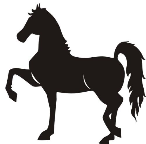 Horse Clip Art Silhouette .